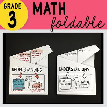 3rd Grade Math Understanding Liquid Volume Foldable by Math Doodles