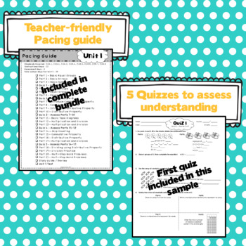 3rd Grade Math: Unit 1 - Eureka/EngageNY Supplement SAMPLE PACK