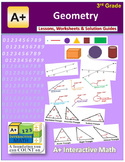 "3rd Grade Math Unit 12 ""Geometry"" - Lessons, Worksheets, Solution Manuals"