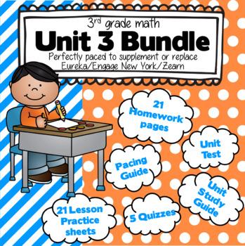 3rd Grade Math: Unit 3 - Eureka/EngageNY Complete Supplement Bundle