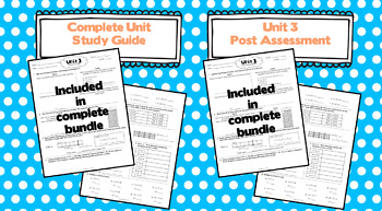 3rd Grade Math: Unit 3 - Eureka/EngageNY Supplement SAMPLE PACK