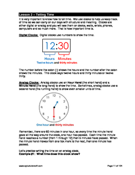 """3rd Grade Math Unit 9 """"Time and Money"""" - Lessons, Worksheets, Solution Manuals"""