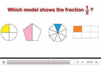 3rd Grade Math- Unit Fraction Video Challenges (3.G.A.2  & 3.NF.A.1)