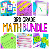 3rd Grade Math Workshop & Guided Math Bundle | Distance Learning