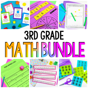 3rd Grade Math Units - Year Long Math Workshop Bundle
