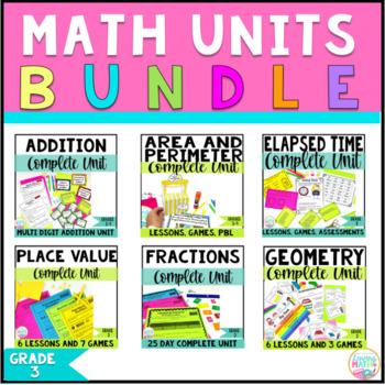 3rd Grade Math Units Bundle Common Core Math