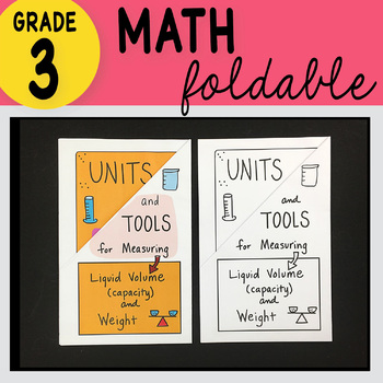 3rd Grade Math Units & Tools for Measurement Foldable by Math Doodles