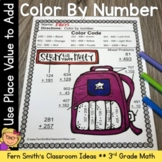 3rd Grade Math Use Place Value to Add Color By Number