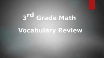 3rd Grade Math Vocab. & Examples