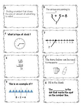 3rd Grade Math Vocabulary Module 2