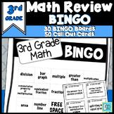 Math Review Game   3rd Grade Vocabulary BINGO