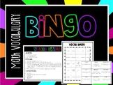 3rd Grade Math Vocabulary BINGO Math Center