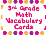 3rd Grade Math Vocabulary Cards