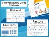 3rd Grade Math Vocabulary Cards TEKS