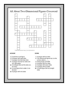 3rd Grade Math Vocabulary Crossword Puzzles by Ralynn ...