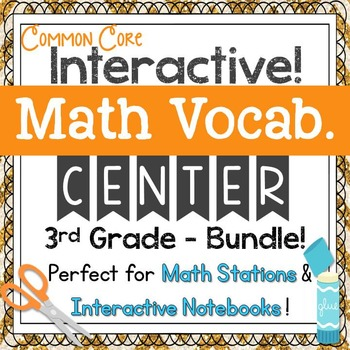 3rd Grade Math Vocabulary Interactive Notebook