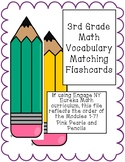 3rd Grade Math Vocabulary Matching Flashcards Organized by Eureka Math Modules