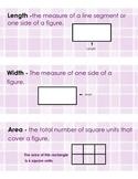 3rd Grade Math Vocabulary (Math Expressions Unit 2)