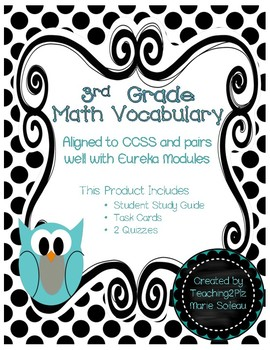 3rd Grade Math Vocabulary Module 1