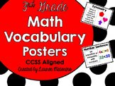 Math Vocabulary Posters and Vocabulary Cards- 3rd Grade-CCSS Aligned
