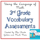 3rd Grade Math Vocabulary Pretest and Post-test Yearlong Packet - CCSS