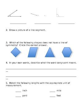 3rd Grade Math Vocabulary Review List #2