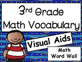 3rd Grade Math Vocabulary Visual Aids