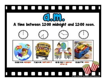 3rd Grade Math Vocabulary Word Wall Movie Theme