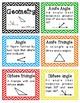 3rd Grade Math Vocabulary flash cards/study cards