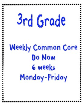 3rd Grade Math Weekly Common Core Practice