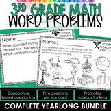 3rd Grade Word Problems | Test Prep YEARLONG BUNDLE | MATH SPIRAL REVIEW