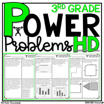 3rd Grade Math Word Problems Math Word Problems & Homework for 3rd Grade BUNDLE