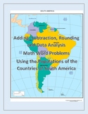 3rd Grade Math Word Problems Using Population Data of South America