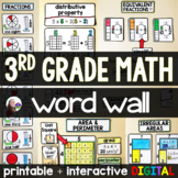 3rd Grade Math Word Wall