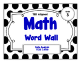 3rd Grade Math Word Wall - Data Analysis TEKS 3.8A&B
