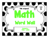 3rd Grade Math Word Wall -Geometry TEKS Aligned!