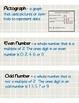 3rd Grade Math Vocabulary (Math Expressions Unit 1)