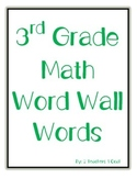 3rd Grade Math Word Wall Words