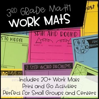 3rd Grade Math Work Mats | Low/No Prep Math Activities
