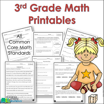 3rd Grade Math Printables {Worksheets}