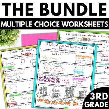 3rd grade math worksheets multiple choice bundle by the. Black Bedroom Furniture Sets. Home Design Ideas