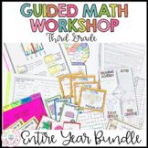 3rd Grade Math - Guided Math Lesson Plans - Math Workshop (BUNDLE)