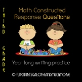 3rd Grade Math Written Constructed Response Questions ~ CCSS Aligned ~ Test Prep
