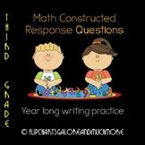 3rd Grade Math Written Constructed Response Questions ~ CC