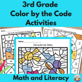 3rd Grade Math and Literacy Color by the Code Activities