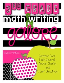 3rd Grade Math and Writing Galore: math journal for the co
