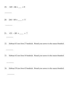 3rd Grade - Math in Focus -  Chapter 2 Review
