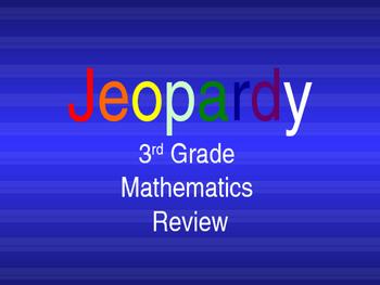 3rd Grade Mathematics Jeopardy Review
