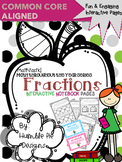 3rd Grade Mathtastic Fractions Interactive Notebook