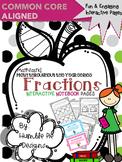 3rd Grade Mathtastic Fractions Interactive Notebook